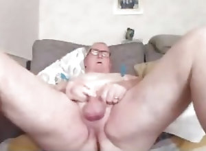Amateur (Gay);Daddies (Gay);Masturbation (Gay) grandpa cum on...
