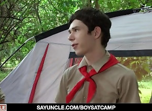 sayuncle;threesome;double-penetration;round-ass;ass-licking;teen;no-condom;doggystyle;friends;masturbating;camp;taboo;anal;boy-scout;gay;hairy,Bareback;Twink;Blowjob;Big Dick;Group;Gay;Handjob;Cumshot Two Boy Scouts...