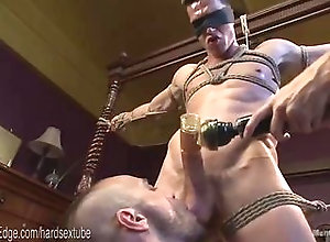 bondage,domination,fetish,hunk,tease,gay Bound Hunk Cums...