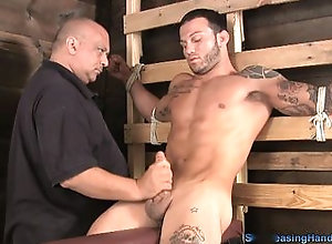 cum,ejaculation,bdsm,bondage,fetish,handjob,hunk,jerking off,kinky,muscle,tattoo,wanking,old and young,trimmed,blowjob,gay Tony Hold It For...