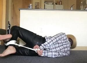 european;latin;bondage;gagged;tied;up;hogtied;bit;gag;cowboy;western;leather;barefoot;drooling;struggling;bare;feet;leather;pants;roped,Euro;Latino;Solo Male;Gay;Amateur;Feet Barefoot Leather...
