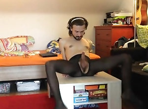 pantyhose;masturbation,Solo Male;Gay;Verified Amateurs Buttplug und...