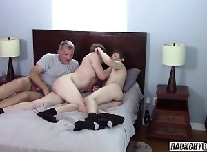 raunchybastards;gay;anal;bareback;gay-4-pay;first-time-gay;daddy;older-man;rough;threesome;big-cock,Bareback;Daddy;Twink;Blowjob;Big Dick;Group;Gay;Creampie;Straight Guys Two Hot Gay 4 Pay...