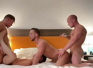 foursome;orgy;group-sex;jj-knight;letseatcakexx;kaden-hylls;bareback;huge-dick;big-dicks;raw;cum-shot;breeding;husbands;creampie;big-cock,Bareback;Muscle;Big Dick;Gay;Hunks;Rough Sex;Cumshot HUNG Studs JJ...