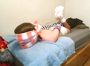 fuzzy-socks;fuzzy-sock-bondage;white-socks-bondage;hogtied;hogtied-gagged;sock-gagged;sock-bondage;rope-bondage;selfbondage,Twink;Solo Male;Gay;Reality;Amateur;Feet;Verified Amateurs Cross Tied Thick...