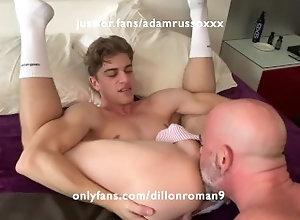 dillon-roman;big-cock;smooth-ass;daddys-boy;bald;daddy,Bareback;Daddy;Twink;Muscle;Blowjob;Big Dick;Pornstar;Gay;Cumshot,Adam Russo Adam Russo Breeds...