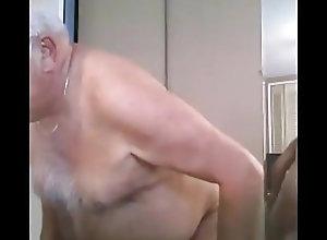 Bear (Gay);Daddy (Gay);Handjob (Gay);Masturbation (Gay) grandpa cum on...