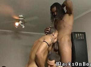 blowjob,cumshot,hardcore,interracial,black,threesome,gay Vinnie Tuscano...