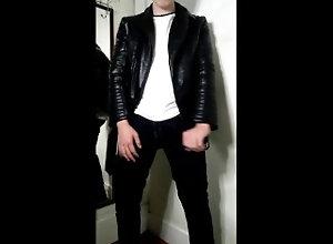 cum;leather;jacket;leather;jacket;biker;motorcyle;jerk;jack;wank;off;cock;dick;gay;cumshot;cum;shot;load,Solo Male;Gay;Verified Amateurs;Cumshot Breaking in my...