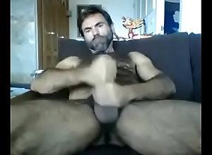 mature,hairy,masturbation,gay,daddy,big-cock,gay Hairy Daddy Jerking