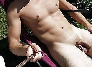 Man (Gay);German (Gay) Sunbathing in Berlin
